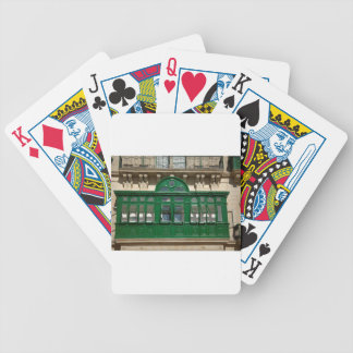 The green balcony bicycle playing cards