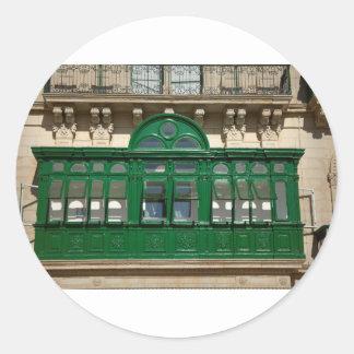 The green balcony classic round sticker