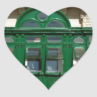 The green balcony heart sticker