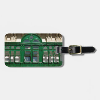 The green balcony luggage tag