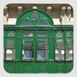 The green balcony square sticker