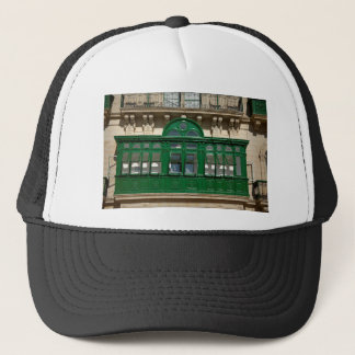 The green balcony trucker hat