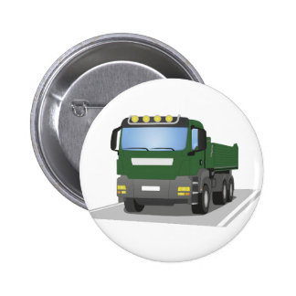 the Green building sites truck 2 Inch Round Button