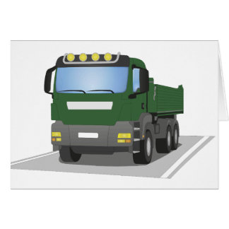 the Green building sites truck Card