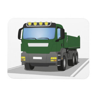 the Green building sites truck Rectangular Photo Magnet