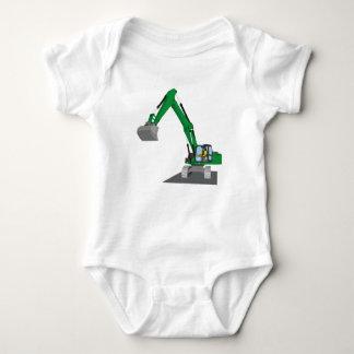 the Green chain excavator Baby Bodysuit
