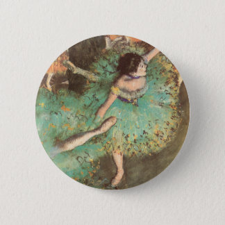 The Green Dancer by Edgar Degas, Vintage Ballet 2 Inch Round Button