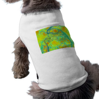 The Green Earth – Teal & Gold Tides Pet T Shirt