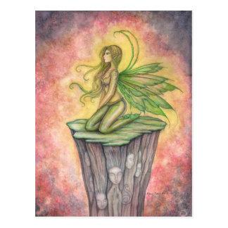 The Green Faerie Fairy Postcard