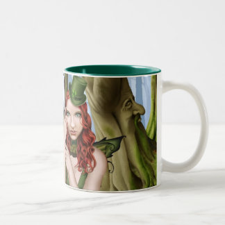 The Green Faerie Two-Tone Coffee Mug