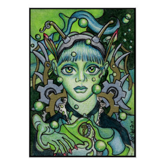 The Green Fairy Steampunk Poster