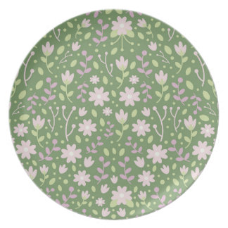 The Green Flowery Spring Fields Dinner Plate