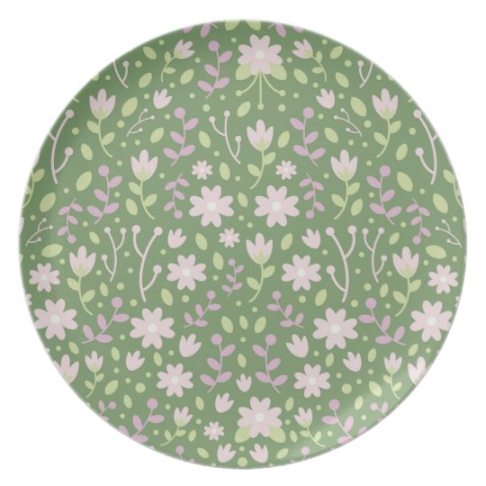 The Green Flowery Spring Fields Plate