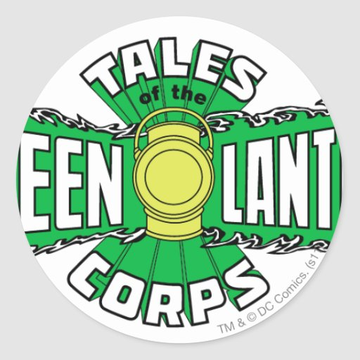 The Green Lantern Corps - Green Logo Round Stickers