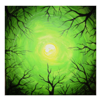 The green light of the forest poster