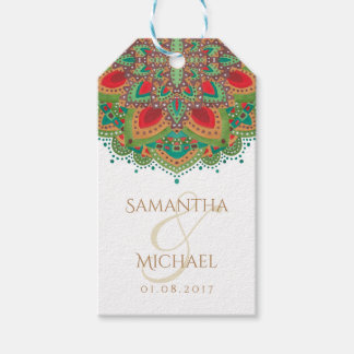 The Green Mandala Wedding Thank You Favor Gift Tag Pack Of Gift Tags
