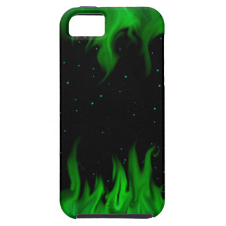 The Green of flames RK the starlit sky iPhone 5 Covers