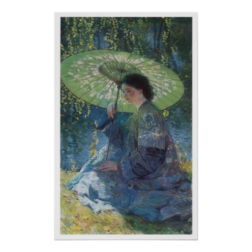 The Green Parasol, 1909 Guy Rose Poster