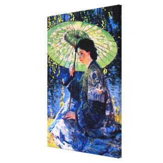 The Green Parasol, a Guy Rose Painting Canvas Print