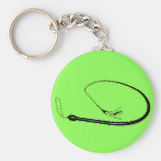 THE GREEN WHIP BASIC ROUND BUTTON KEYCHAIN