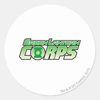 The Gren Lantern Corps Logo 2 Round Sticker
