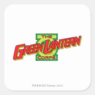The Gren Lantern Corps Logo Square Sticker