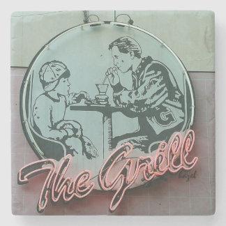 The Grill, Athens Georgia Marble Coaster. Stone Coaster