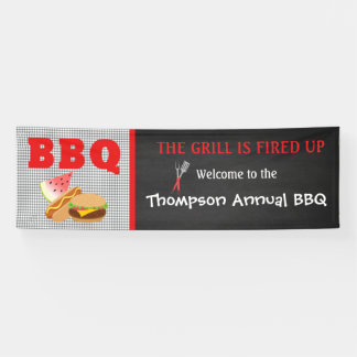 The Grill Is Fired Up... BBQ Food Banner