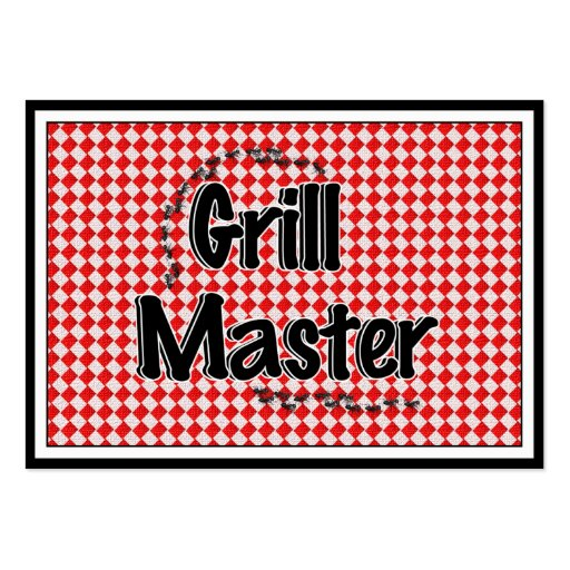 The Grill Master w/Picnic Table & Ants Business Card Templates