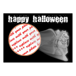 The Grim Reaper Ride Halloween Photo Frame Business Card Templates