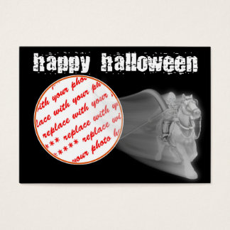 The Grim Reaper Ride Halloween Photo Frame Business Card