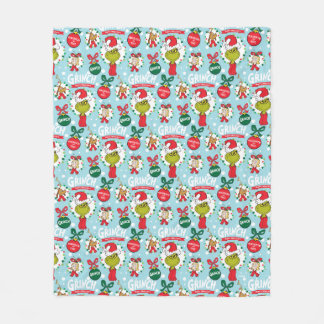 The Grinch | Happy Wholidays Pattern Fleece Blanket