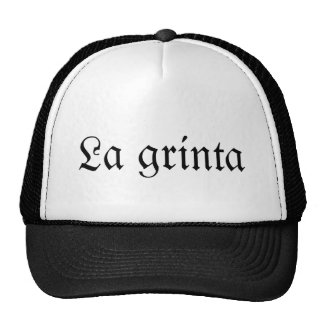 The grinta trucker hat