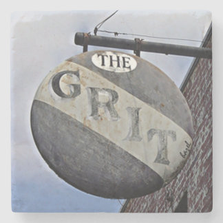 The Grit Athens Georgia Marble Stone Coaster. Stone Coaster