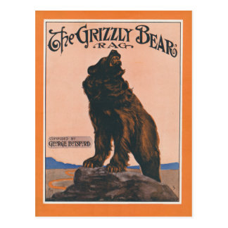 The Grizzly Bear Rag Postcard