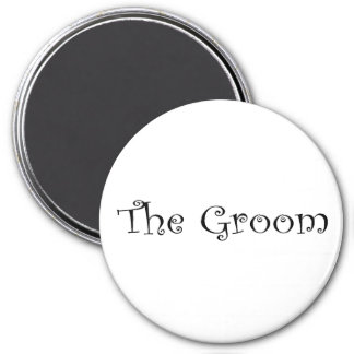 The Groom 3 Inch Round Magnet