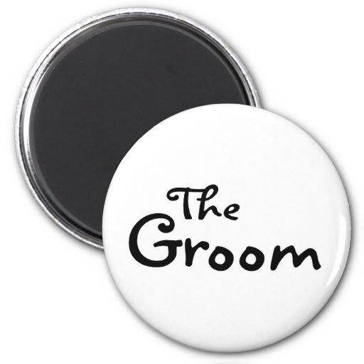 The Groom (Black) Magnet