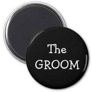 The Groom 2 Inch Round Magnet