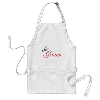The Groom (Script Red) Standard Apron