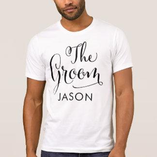 The Groom Shirt | Black Script Writing