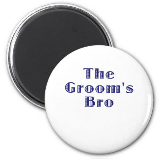 The Grooms Bro 2 Inch Round Magnet