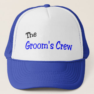 The Grooms Crew (Blue and Black) Trucker Hat