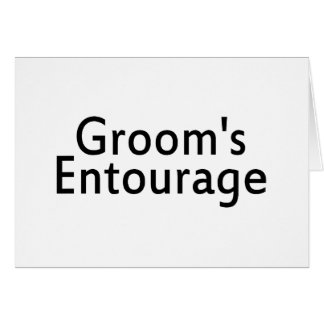 The Grooms Entourage Black Card