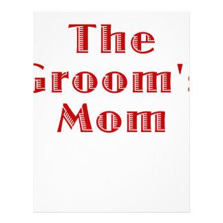The Grooms Mom Letterhead Template