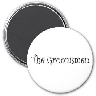The Groomsmen 3 Inch Round Magnet