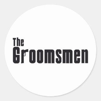 The Groomsmen (Mafia) Round Sticker