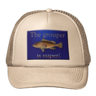 The grouper is super fishing hat