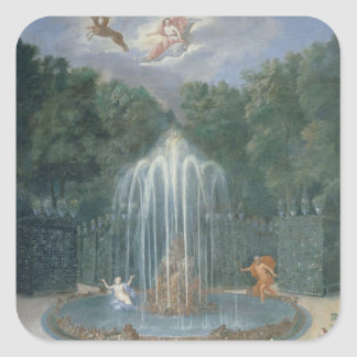 The Groves of Versailles. View of Star or Water Square Sticker