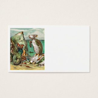 The Gryphon Alice and the Mock Turtle Business Card