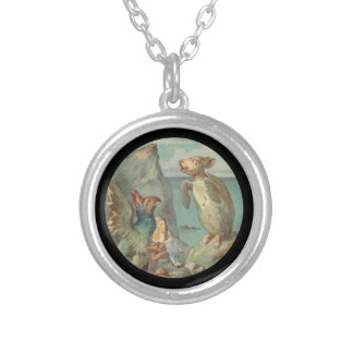 The Gryphon Alice and the Mock Turtle Silver Plated Necklace